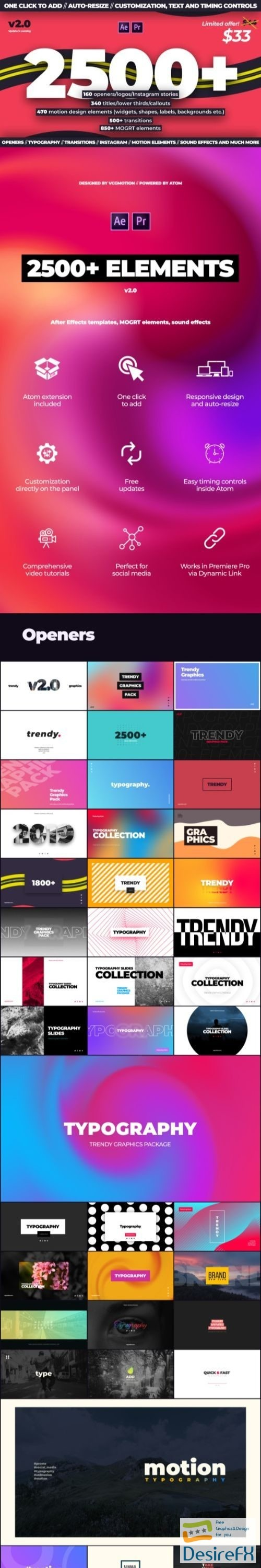 after-effects-projects - Videohive Trendy Motion Graphics Package 24321544