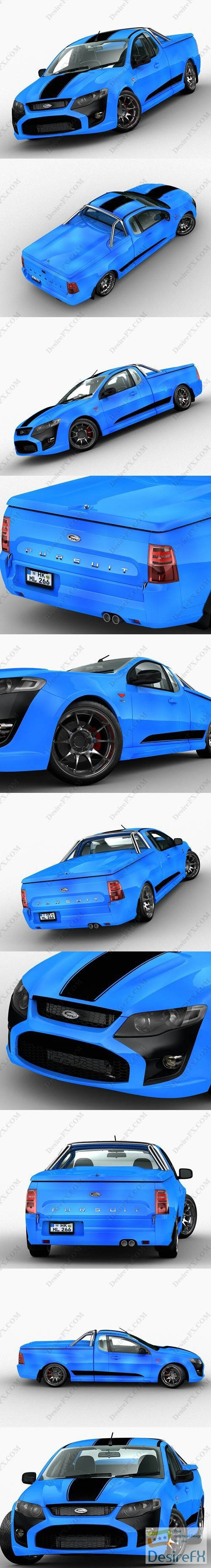 3d-models - Ford Pursuit FPV 2015 3D Model