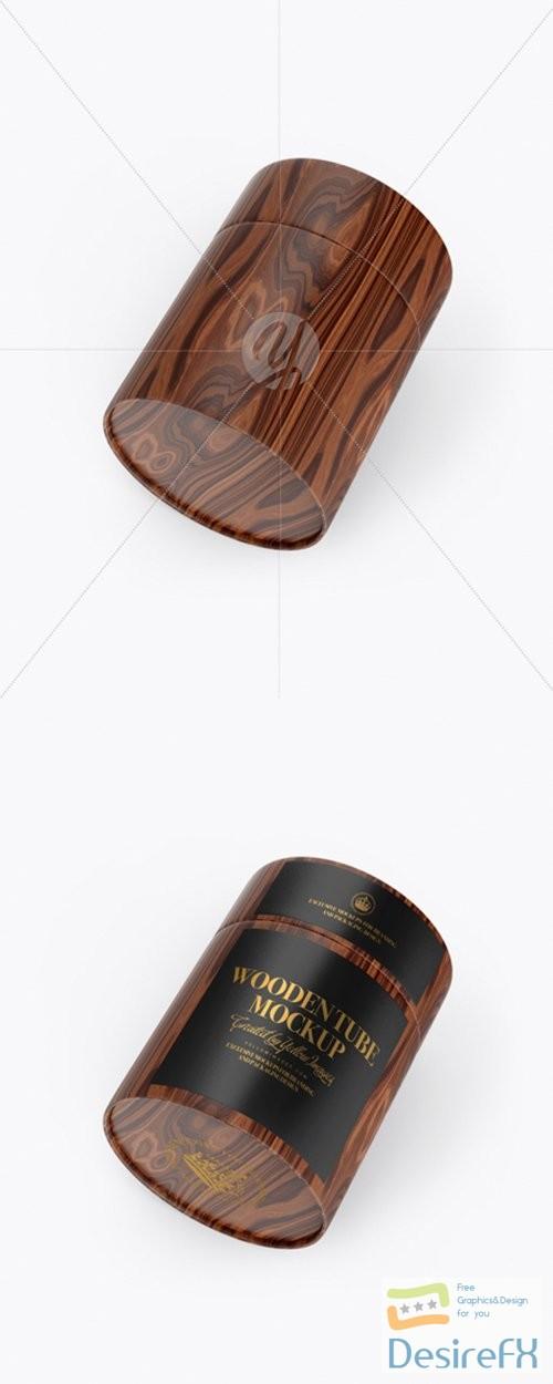 Wooden Tube Mockup - Half Side View 28421 TIF