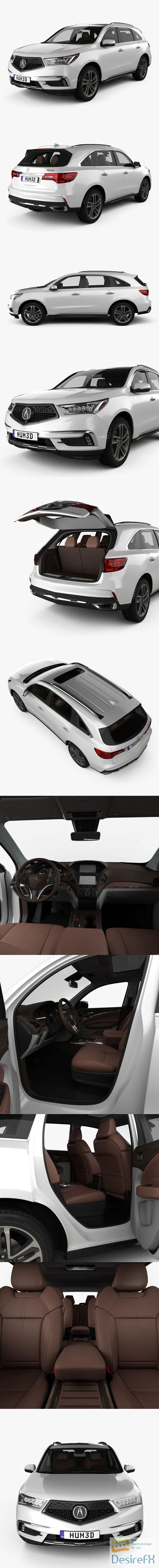 3d-models - Acura MDX Sport Hybrid HQ interior 2017 3D Model