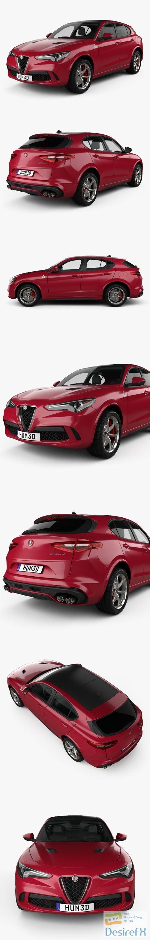 3d-models - Alfa Romeo Stelvio Quadrifoglio 2018 3D Model