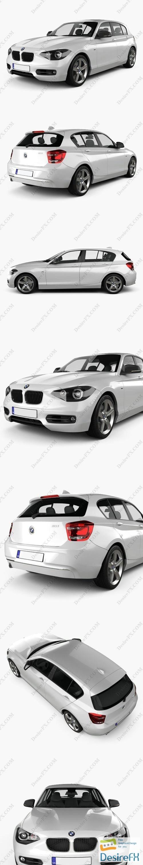 3d-models - BMW 1-series 5door 2011 3D Model