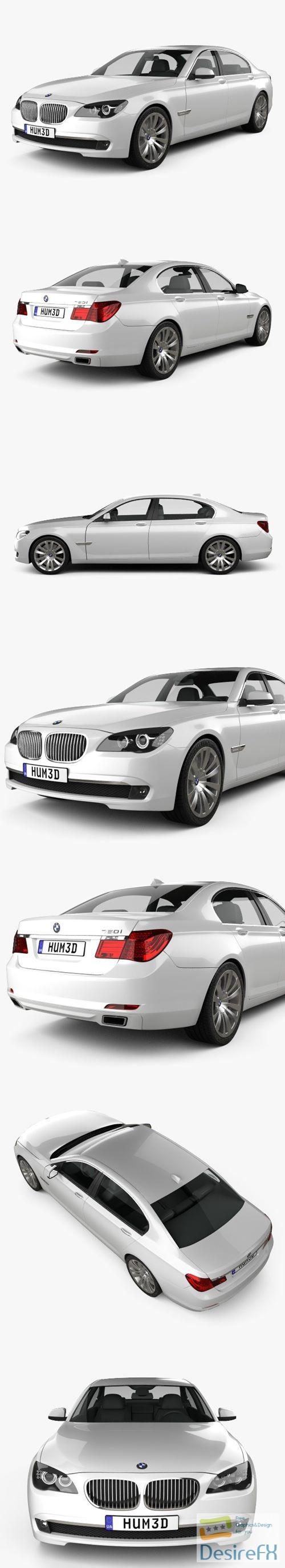 BMW 7-series sedan 2011 3D Model