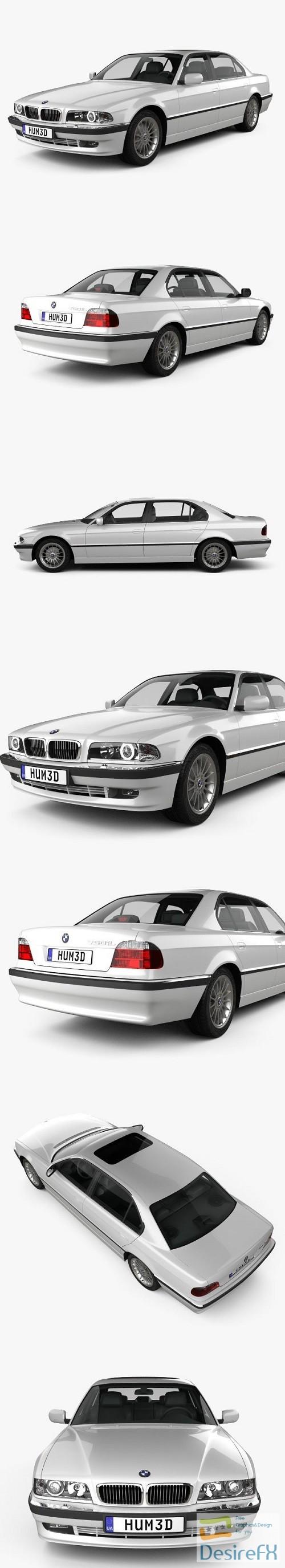 3d-models - BMW 7 series L e38 1998 3D Model
