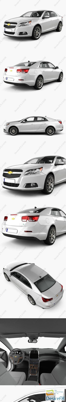 3d-models - Chevrolet Malibu 2013 with HQ interior 3D Model