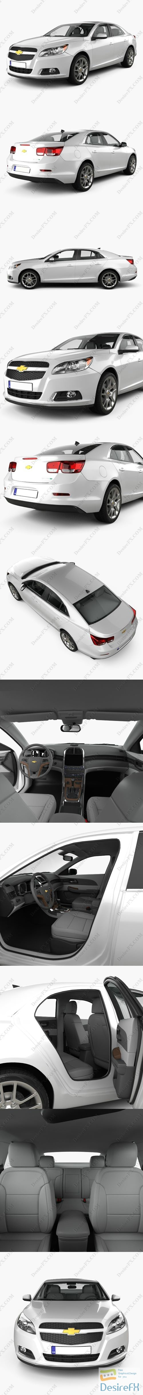 3d-models - Chevrolet Malibu 2013 with HQ interior 3D Model