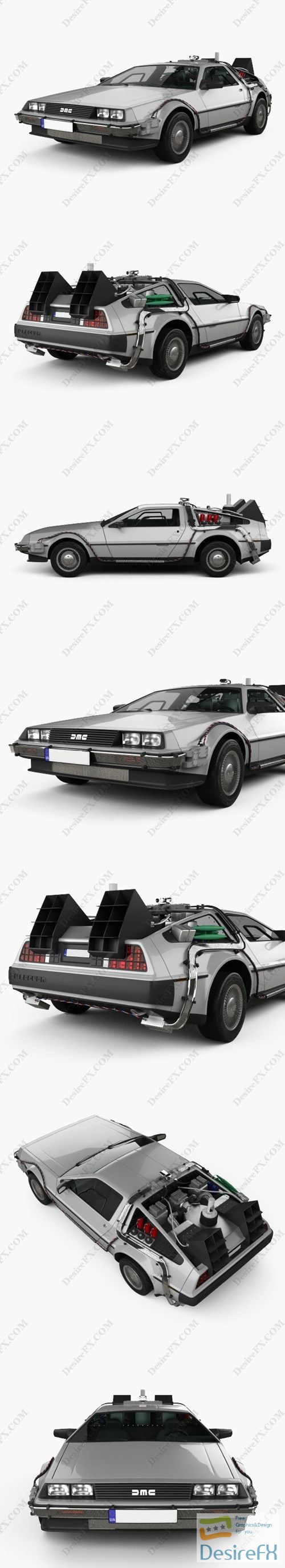 3d-models - DeLorean DMC-12 BTTF II 1981 3D Model
