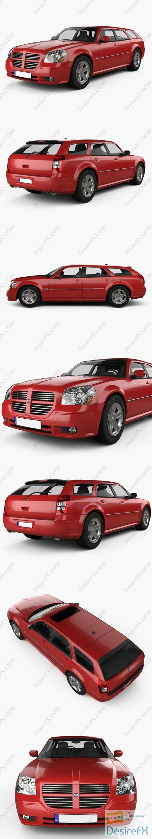 3d-models - Dodge Magnum RT 2004 3D Model