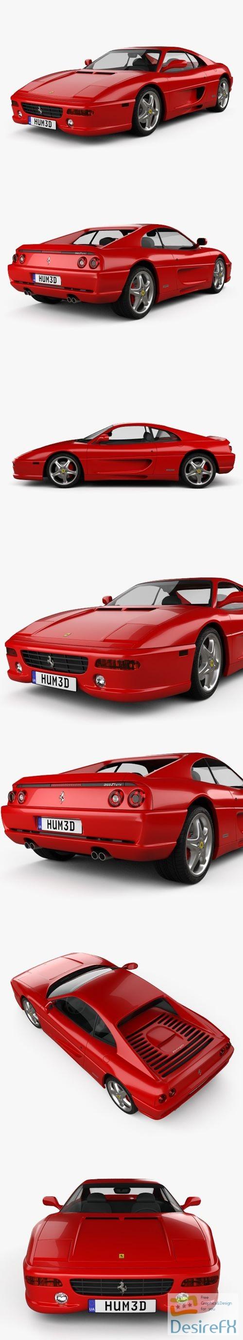 Ferrari F355 F1 Berlinetta 1998 3D Model