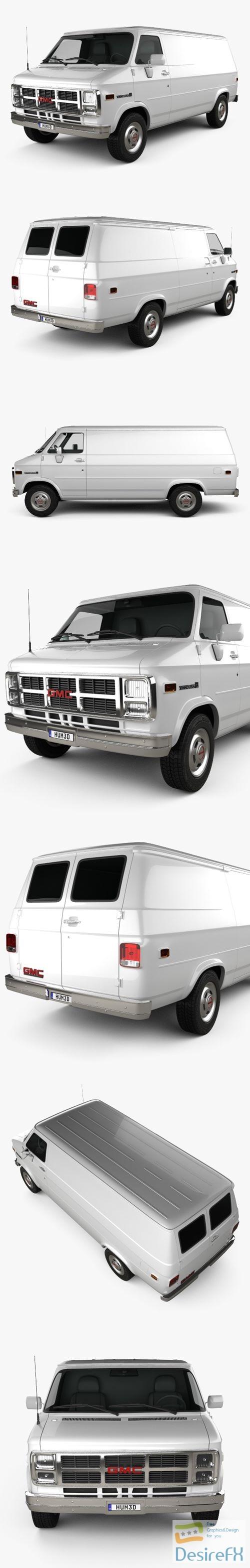 3d-models - GMC Vandura Panel Van 1992 3D Model