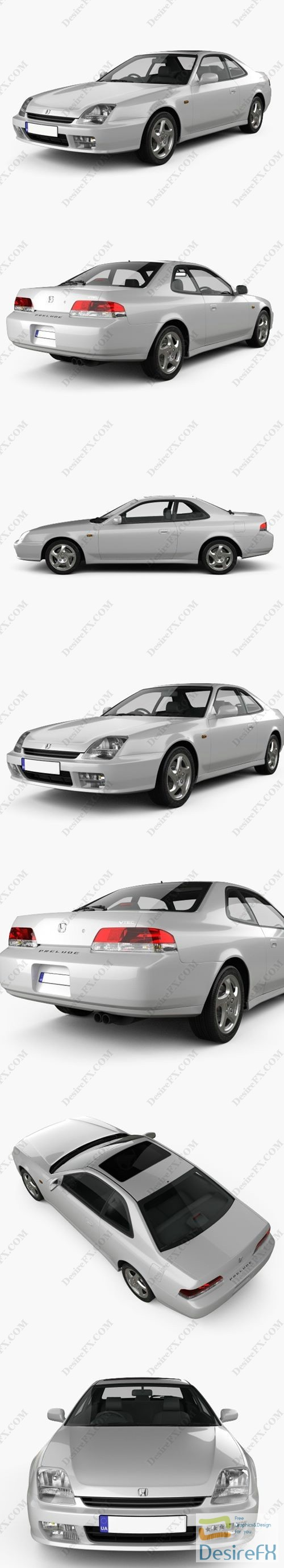 3d-models - Honda Prelude BB5 1997 3D Model