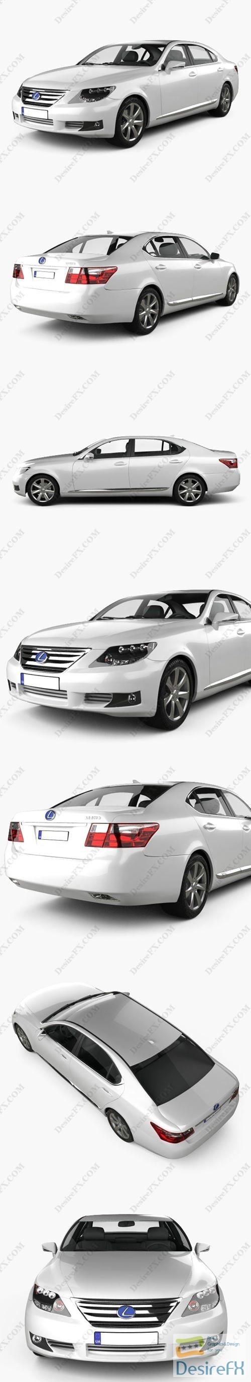 3d-models - Lexus LS XF40 600h 2010 3D Model