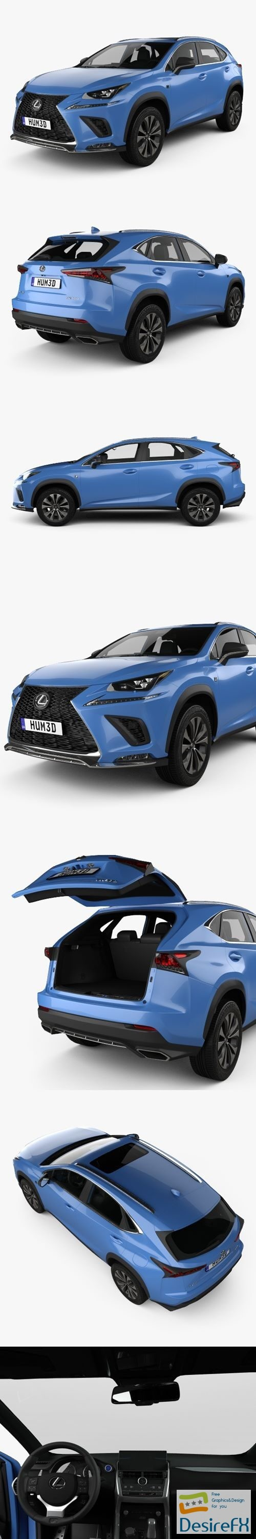 3d-models - Lexus NX F-sport with HQ interior 2017 3D Model