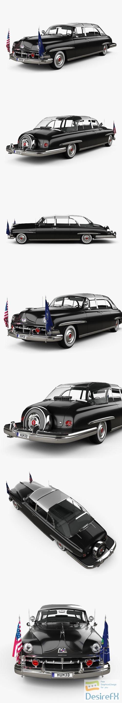 3d-models - Lincoln Cosmopolitan Presidential Limousine 1950 3D Model