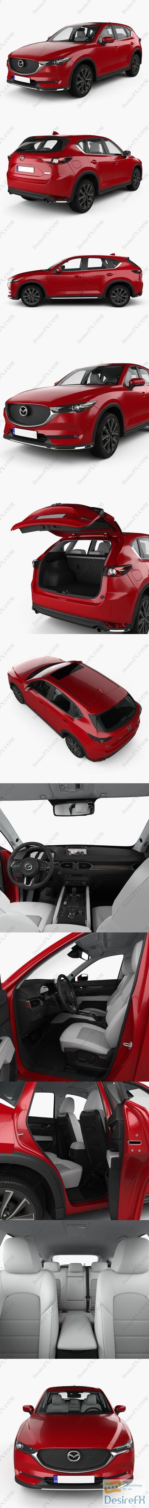 Mazda CX-5 with HQ interior 2017 3D Model