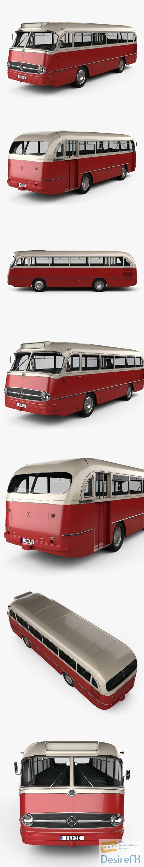 3d-models - Mercedes-Benz O 321 H Bus 1954 3D Model