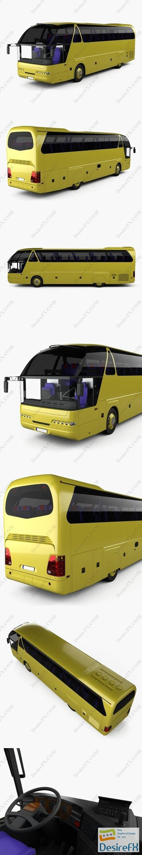 3d-models - Neoplan Starliner N 516 SHD Bus with HQinterior 1995 3D Model