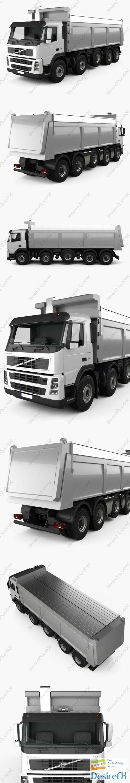 3d-models - Volvo FM Truck 10x4 Dumper 2010 3D Model