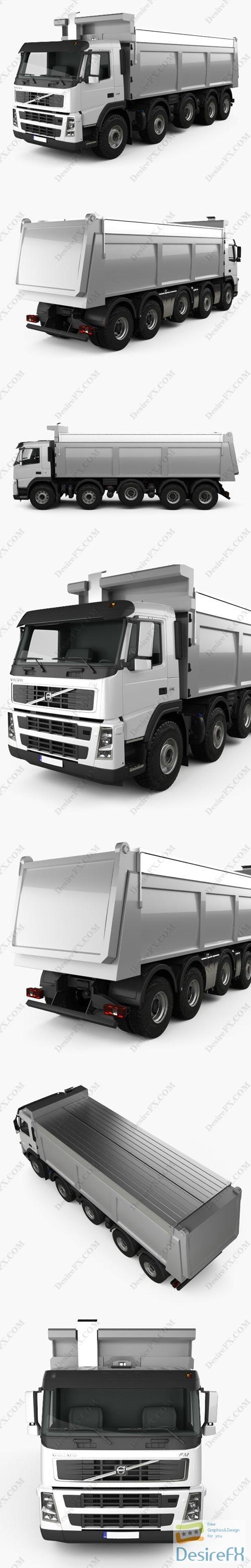 Volvo FM Truck 10x4 Dumper 2010 3D Model