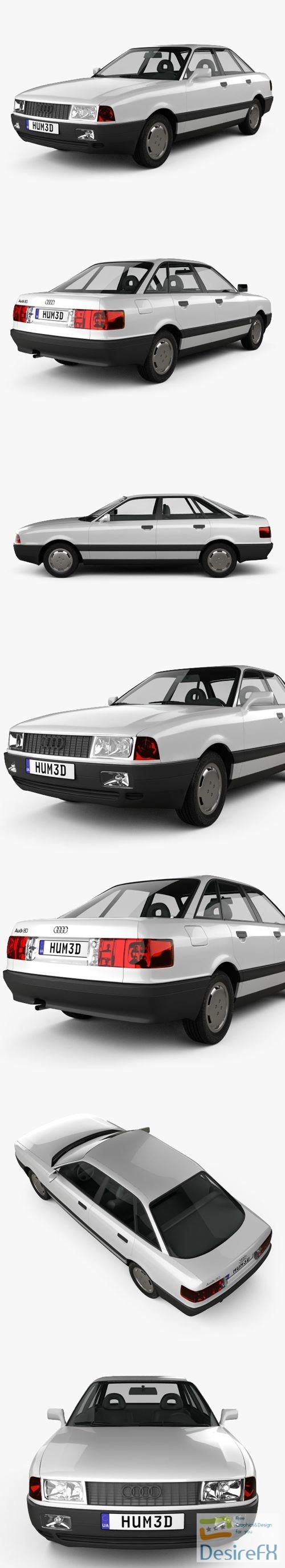 Audi 80 B3 1986 3D Model