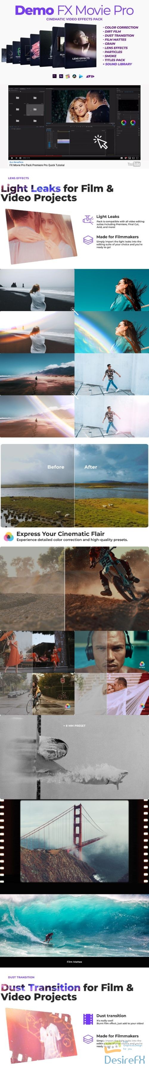 after-effects-projects - VideoHive Demo FX Movie Pro cinematic effects 24975954