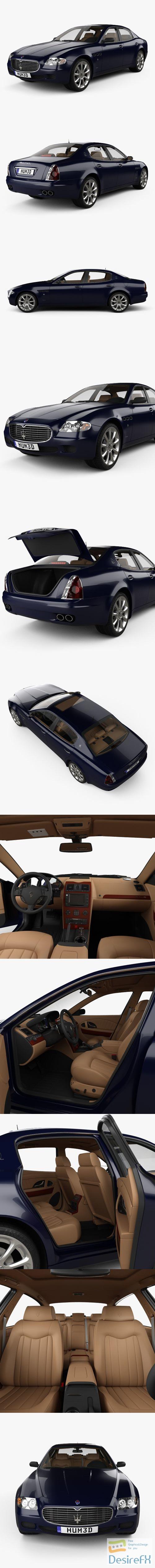 3d-models - Maserati Quattroporte with HQ interior 2004 3D Model