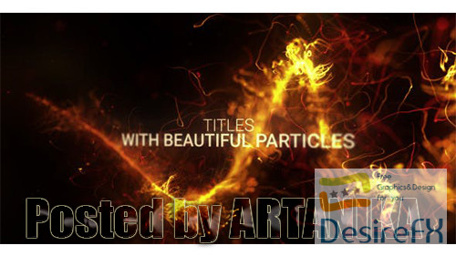 after-effects-projects - Abstract Particles Titles Trailer 20606970