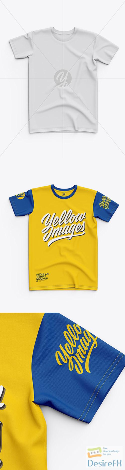 Mens Classic Regular T-Shirt - Top View 30237 TIF