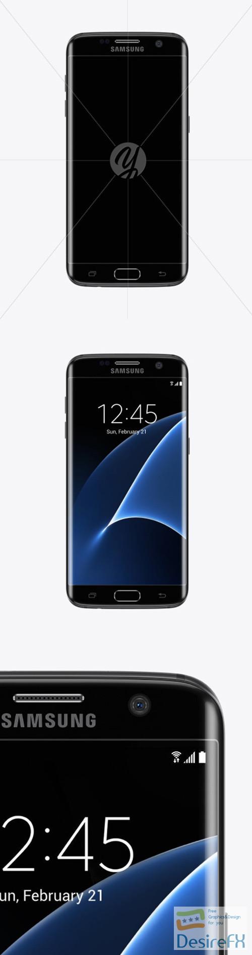 mock-up - Black Onyx Samsung Galaxy S7 Phone Mockup 52110 TIF