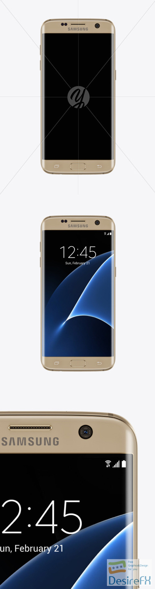 mock-up - Gold Platinum Samsung Galaxy S7 Phone Mockup 52107 TIF