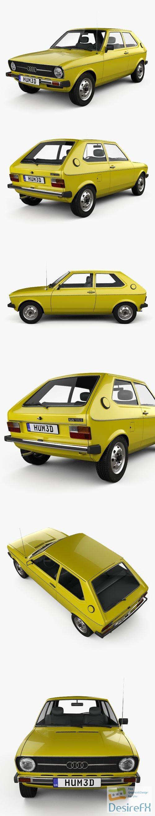 3d-models - Audi 50 Typ86 1974 3D Model