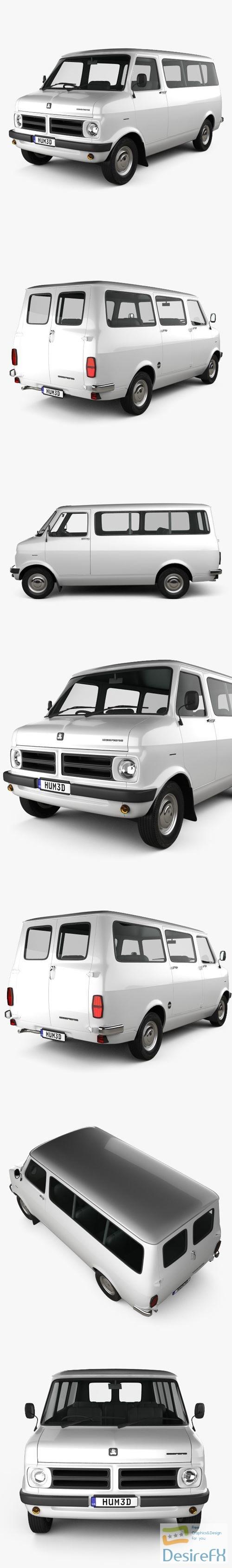 3d-models - Bedford CF Minibus 1969-1979 3D Model