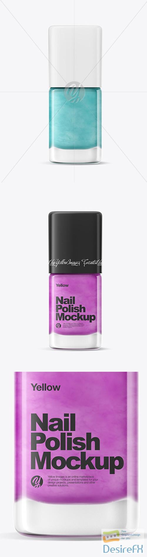 mock-up - Nail Polish Mockup w/ Matte Cap 52104 TIF
