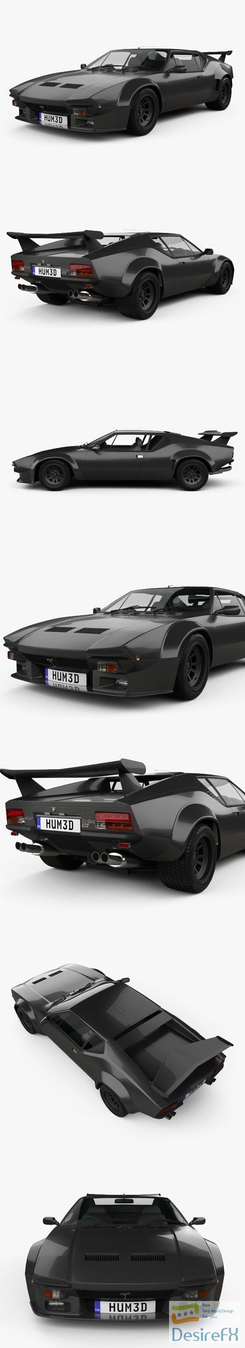 3d-models - De-Tomaso Pantera GT5S 1984 3D Model