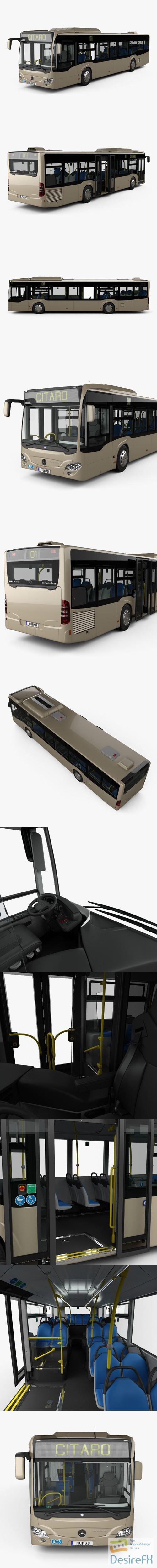 Mercedes-Benz Citaro O530 Bus with HQ interior 2011 3D Model