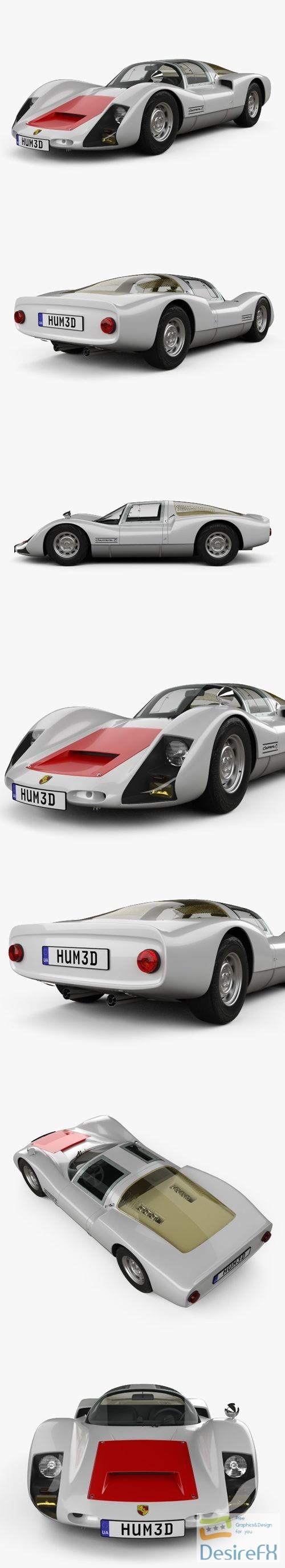 Porsche 906 Carrera 6 Coupe 1966 3D Model