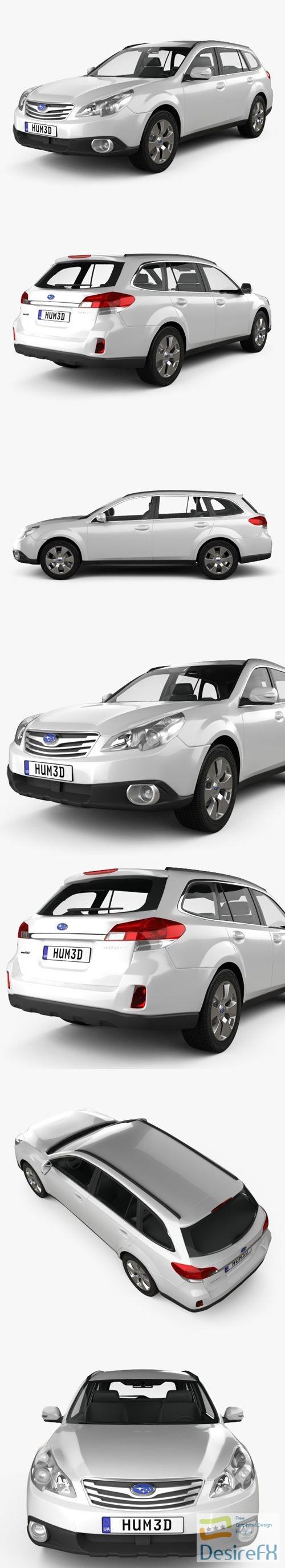3d-models - Subaru Outback 2010 3D Model