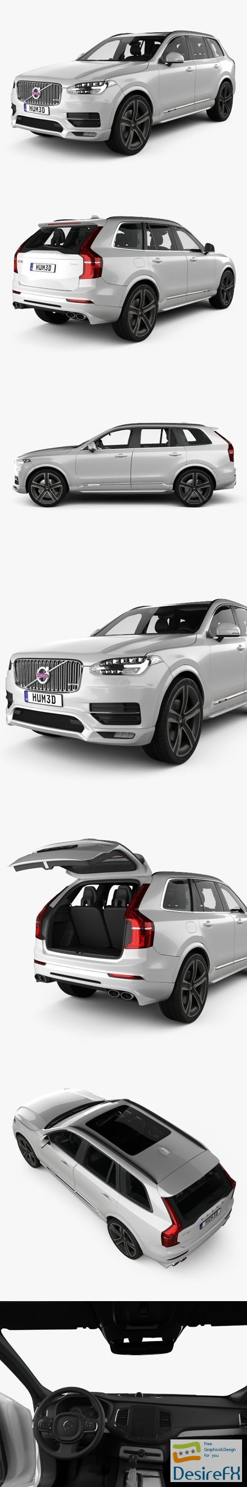 3d-models - Volvo XC90 Heico with HQ interior 2016 3D Model