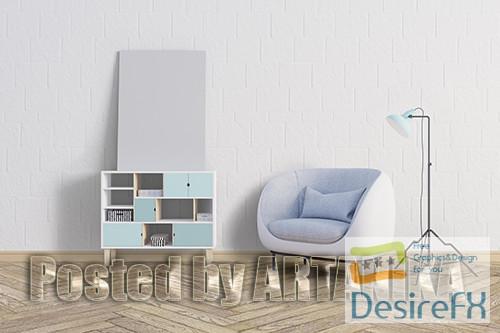 mock-up - Frame Wall PSD Mockup