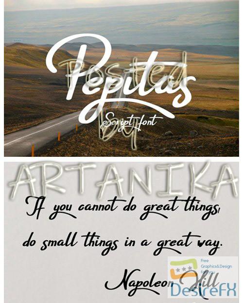 fonts - Pepitas Font