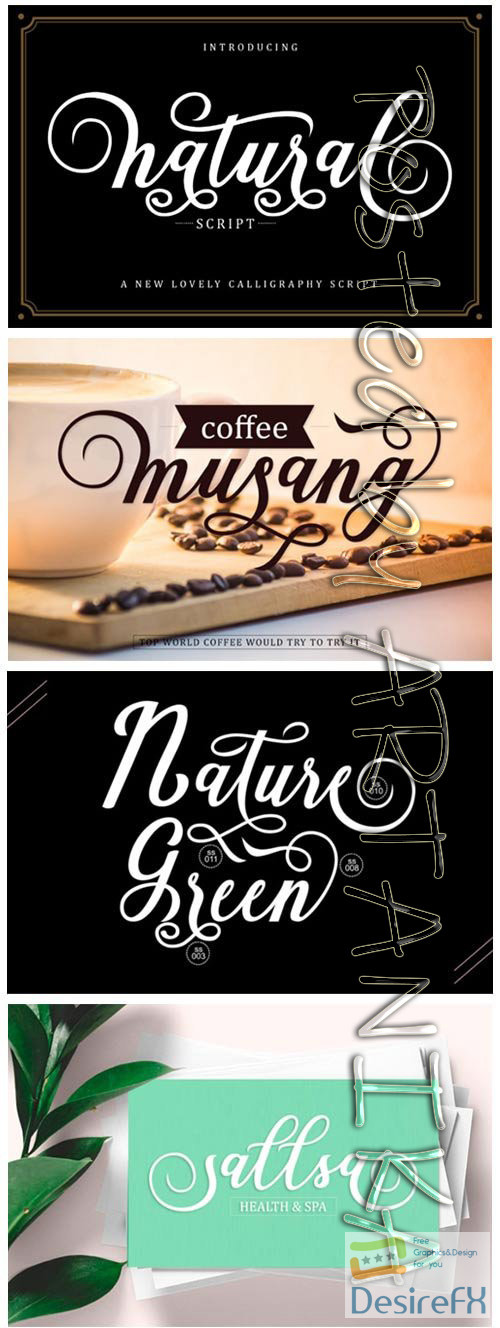 fonts - Natural Script Font