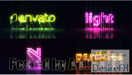 after-effects-projects - Light Particles Logo | Titles 25515764
