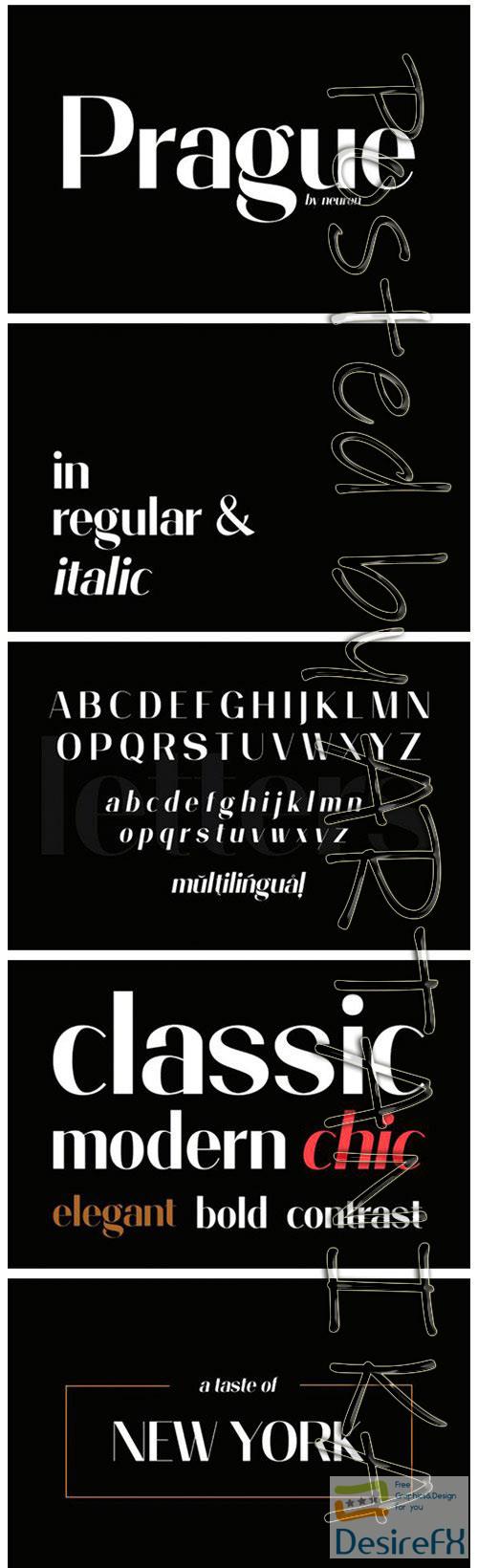 fonts - Prague Font