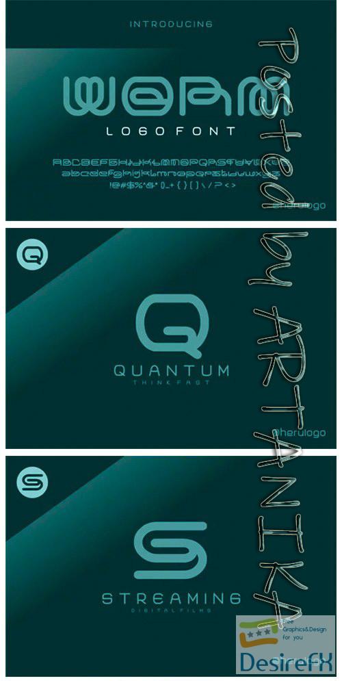 fonts - Worm Font
