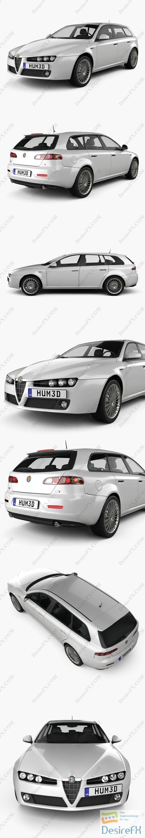 3d-models - Alfa Romeo 159 Sportwagon 2011 3D Model