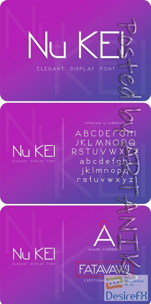 fonts - Nu Kei Font