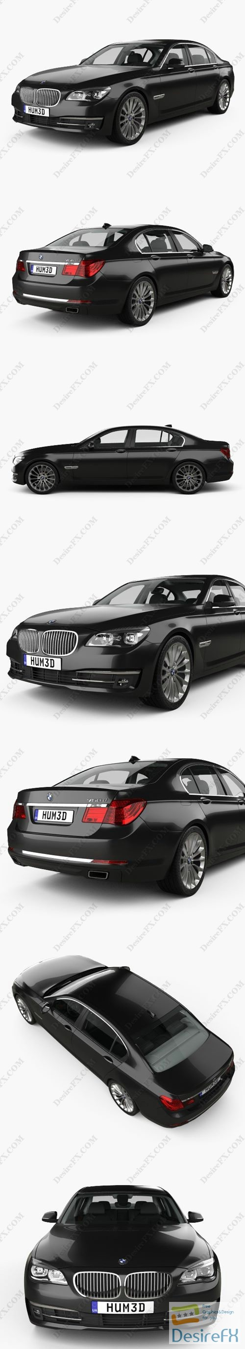 3d-models - BMW 7-series F02 with HQ interior 2013 3D Model