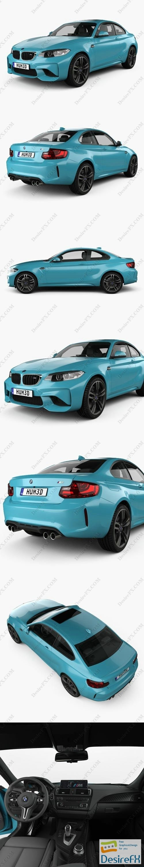 3d-models - BMW M2 F87 coupe with HQ interior 2015 3D Model