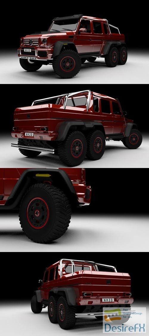 Mercedes-Benz Brabus G700 6x6 3D Model