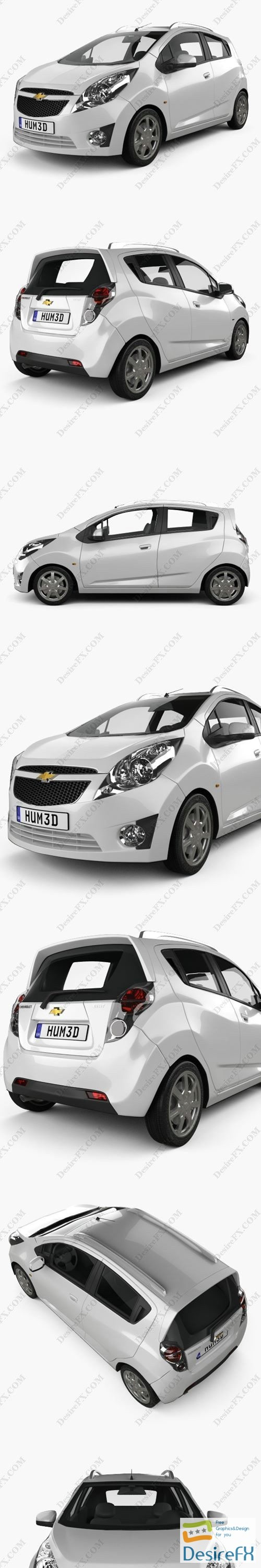 3d-models - Chevrolet Spark (Beat) 2010 3D Model